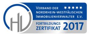 Die Vest-Hausverwaltung Rainer Beier KG nahm an der Fortbildung des VNWI 2017 teil